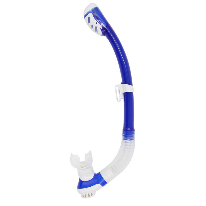 One Way Purge Diving Snorkel , Professional Adult Blue Full Dry Snorkel